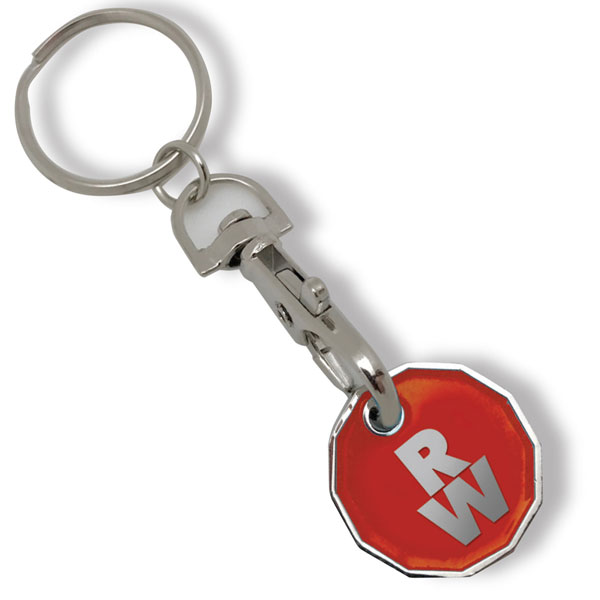 Printed Trolley Coin Key Ring