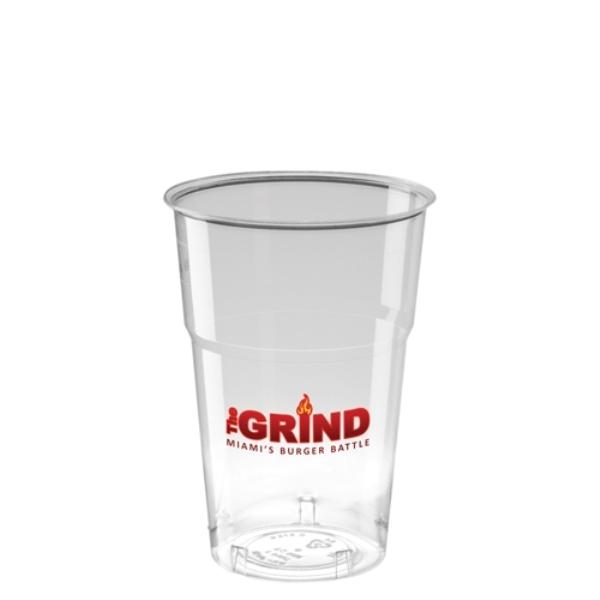 Disposable Plastic Tumbler (300ml/10oz) - Crystal Polystyrene