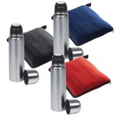 Set Fleece Blanket + Thermal Flask