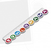 150mm Custom Shaped Ruler