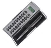 Calculator and a metal pen