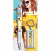 Blister Packed Contour Argent Ballpen with Vivid Torch Key Ring