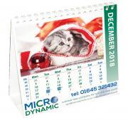 Square Desk Easel Calendar