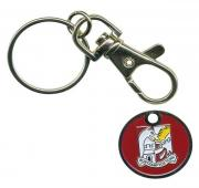 Enamelled Trolley Coin Key Ring