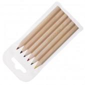 Colourworld Half Length Pencils WLT 6 Natural