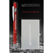 Blister Packed Radical Ballpen with Business Card Case
