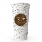 20oz (500ml) Single Walled Paper Cup (Full Colour)