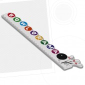 300mm Custom Shaped Ruler