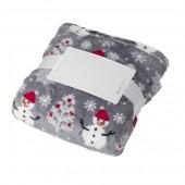 Flannel Fleece Snowmen Blanket (260 gr/m2)