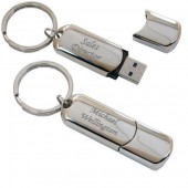 Nickel Plated City Flash Drive 4GB